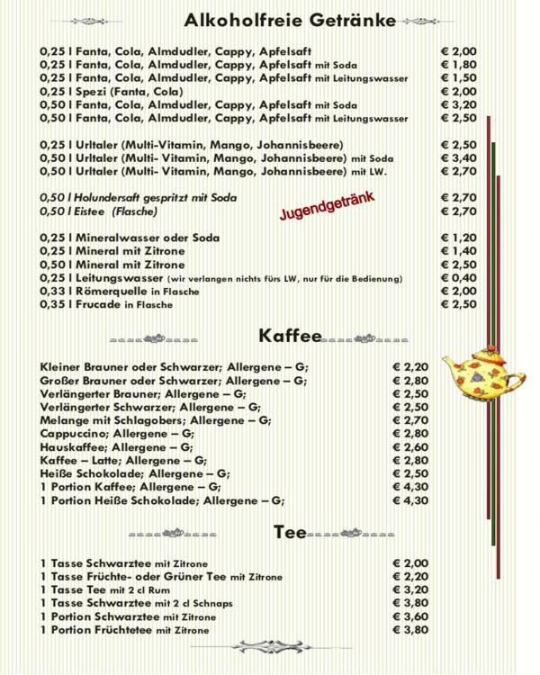 Speisekarte Cafe Wei Ef Bf Bd Erlangen
